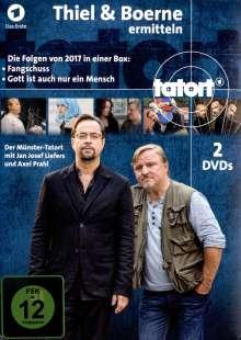 Tatort Münster - Thiel und Boerne ermitteln 2017, 2 DVDs