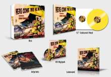Kim Wilde: Here Come The Aliens (Limited Edition Boxset) (Yellow Vinyl), 1 LP, 1 CD und 1 Merchandise