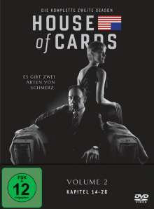 House Of Cards Season 2, 4 DVDs