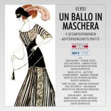 Giuseppe Verdi (1813-1901): Un Ballo In Maschera (4 Gesamtaufnahmen im MP 3-Format), 2 MP3-CDs