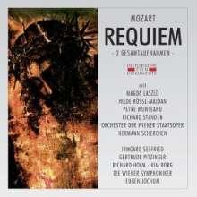 Wolfgang Amadeus Mozart (1756-1791): Requiem (2 Gesamtaufnahmen in lateinischer Sprache), 2 CDs
