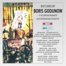 Modest Mussorgsky (1839-1881): Boris Godunow (4 Gesatmaufnahmen im MP3-Format), 2 MP3-CDs