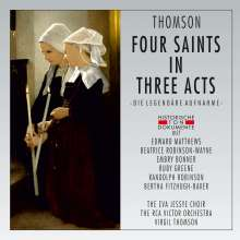 Virgil Thomson (1896-1989): Four Saints in three Acts (gekürzte Fassung), 2 CDs