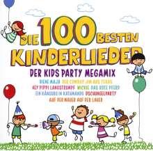 Die 100 Besten Kinderlieder: Der Kids Party Megamix, 2 CDs