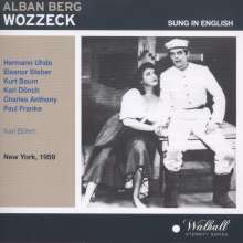 Alban Berg (1885-1935): Wozzeck (in engl.Spr.), CD