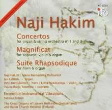 Naji Hakim (geb. 1955): Orgelkonzerte Nr.1 & 3, CD