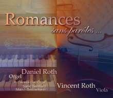 Daniel Roth - Romances sans paroles... - Werke für Viola & Orgel, CD