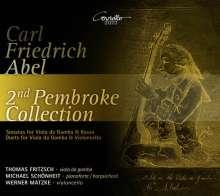 Carl Friedrich Abel (1723-1787): Sonaten für Viola da gamba (aus der Pembroke-Sammlung 2), 2 CDs