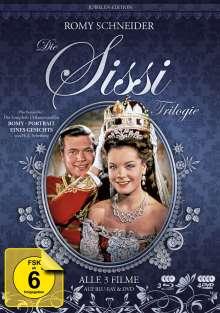 Sissi Trilogie (Juwelen Edition) (Blu-ray & DVD), 3 Blu-ray Discs und 4 DVDs