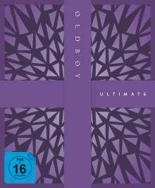 Oldboy (2003) (Ultimate Edition) (Blu-ray & DVD im Mediabook), 3 Blu-ray Discs, 1 DVD und 1 CD