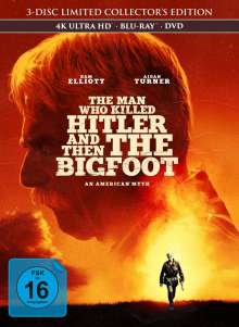 The man who killed Hitler and then the Bigfoot (Ultra HD Blu-ray, Blu-ray & DVD im Mediabook), 1 Ultra HD Blu-ray, 1 Blu-ray Disc und 1 DVD