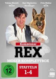 Kommissar Rex Staffel 1-4 (Moser Komplettbox), 12 DVDs