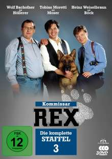 Kommissar Rex Staffel 3, 3 DVDs