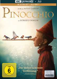 Pinocchio (2019) (Ultra HD Blu-ray & Blu-ray im Mediabook), 1 Ultra HD Blu-ray und 1 Blu-ray Disc
