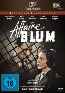 Affaire Blum (Affäre Blum), DVD