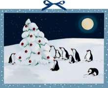 Beate Dölling: Wandkalender - Pinguin-Weihnacht, Kalender