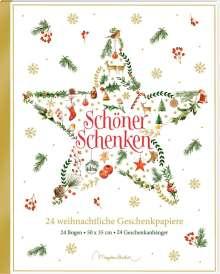 Geschenkpapier-Buch - Schöner schenken. 24 weihnachtliche Geschenkpapiere, Buch