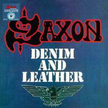 Saxon: Denim And Leather (Limited-Edition) (Blue & White Splatter Vinyl), LP