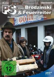 PS - Franz Brodzinski + Feuerreiter (Staffel 2+3), 4 DVDs