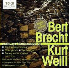 Kurt Weill (1900-1950): Bert Brecht / Kurt Weill - Complete Recordings, 10 CDs