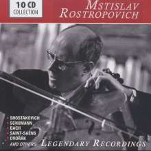 Mstislav Rostropovich - Legendary Recordings, 10 CDs