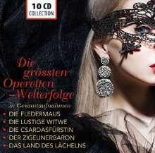 Die größten Operetten-Welterfolge (Gesamtaufnahmen), 10 CDs