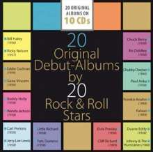 20 Original Debut-Albums By 20 Rock & Roll Stars, 10 CDs