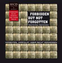 Forbidden, But Not Forgotten: Verboten, verfolgt, aber nicht vergessen, 10 CDs