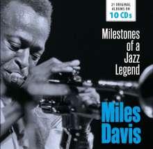 Miles Davis (1926-1991): Milestones Of A Jazz Legend (21 Original Albums), 10 CDs