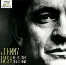 Johnny Cash: Milestones Of A Legend - 14 Original Albums & Bonus Tracks, 10 CDs