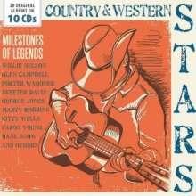 Country & Western Stars: Milestones Of Legends, 10 CDs