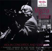 Mischa Elman - Milestones of a Legend, 10 CDs