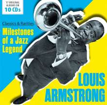 Louis Armstrong (1901-1971): MIlestones Of A Jazz Legend: Classics And Rarities, 10 CDs