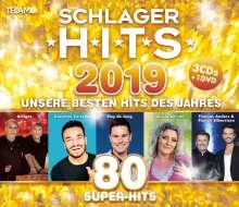 Schlager Hits 2019, 3 CDs und 1 DVD
