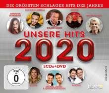 Unsere Hits 2020, 2 CDs und 1 DVD