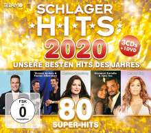 Schlager Hits 2020, 3 CDs und 1 DVD