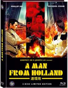 A Man from Holland - Drug Connection (Blu-ray & DVD im Mediabook), 1 Blu-ray Disc und 2 DVDs