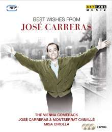 Jose Carreras - Best Wishes From Jose Carreras, 3 DVDs