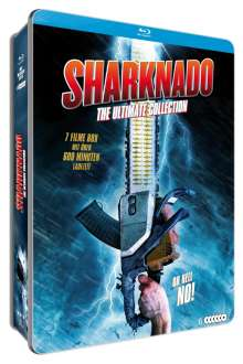Sharknado - The Ultimate Collection (Blu-ray in Metallbox), 5 Blu-ray Discs und 1 DVD
