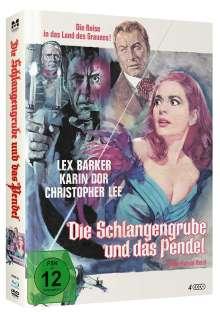 Die Schlangengrube und das Pendel (Blu-ray & DVD im Mediabook), 1 Blu-ray Disc, 2 DVDs und 1 CD