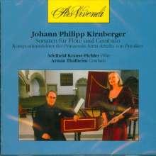Johann Philipp Kirnberger (1721-1783): Sonaten für Flöte & Cembalo C-Dur,e-moll,G-Dur,G-Dur,g-moll, CD
