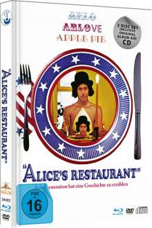 Alice's Restaurant (Blu-ray & DVD plus Soundtrack-CD im Mediabook ), 1 Blu-ray Disc, 1 DVD und 1 CD