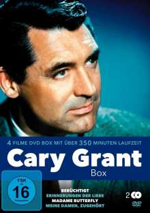 Cary Grant Box  (4 Filme auf 2 DVDs), 2 DVDs