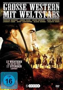 Grosse Western mit Weltstars (12 Filme auf 6 DVDs), 6 DVDs
