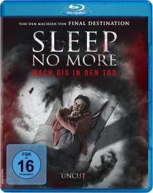 Sleep No More (Blu-ray), Blu-ray Disc