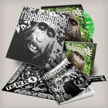 Terrorgruppe: Tiergarten (Limited Edition) (Green Sparkled Glitter Vinyl) (+ Lieder-/Comicbuch + Bandana), 1 LP und 1 CD