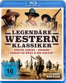 Legendäre Western-Klassiker (Blu-ray), 3 Blu-ray Discs