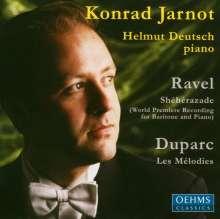 Maurice Ravel (1875-1937): Sheherazade für Bariton & Klavier, CD