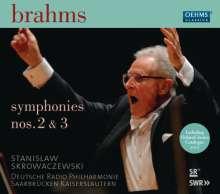 Johannes Brahms (1833-1897): Symphonien Nr.2 & 3, 2 CDs