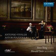 """Antonio Vivaldi (1678-1741): Concerti op.8 Nr.1-4 """"Die vier Jahreszeiten"""" für Violine & Akkordeon, CD"""